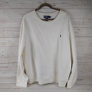 Vtg Polo Ralph Lauren White blue sweatshirt XX